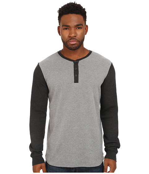 RVCA - After Hours Henley (Grey Noise) Men's Clothing
