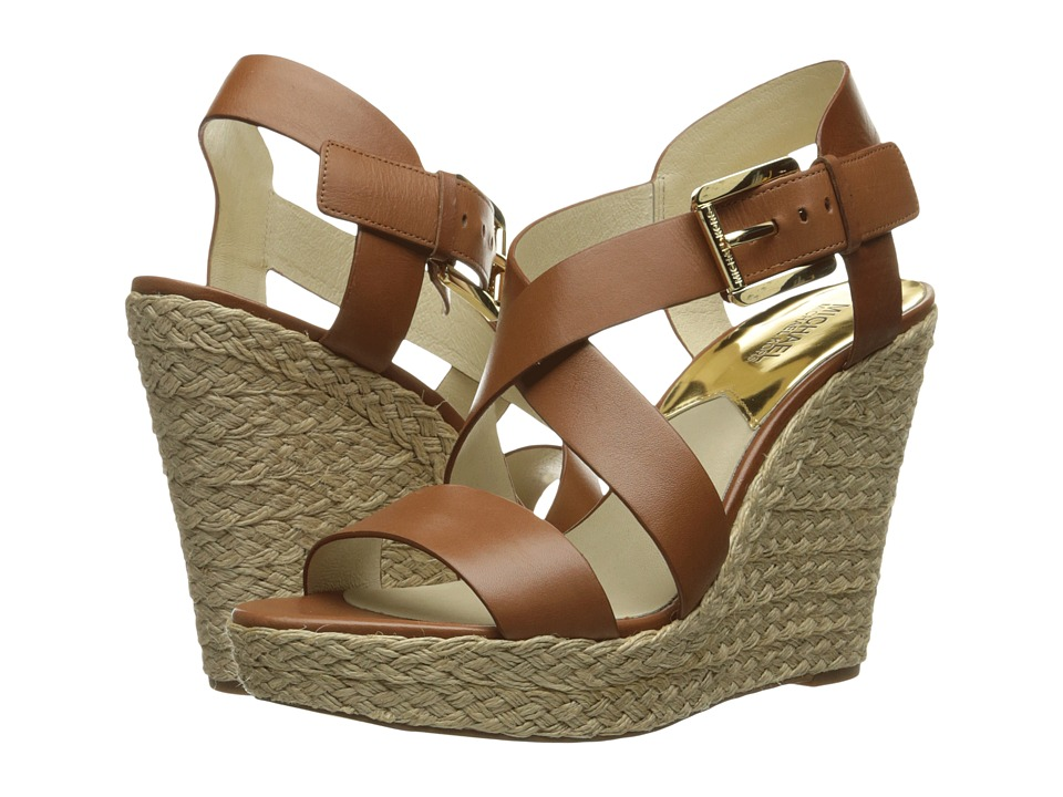 MICHAEL Michael Kors - Giovanna Wedge (Luggage Vachetta) Women