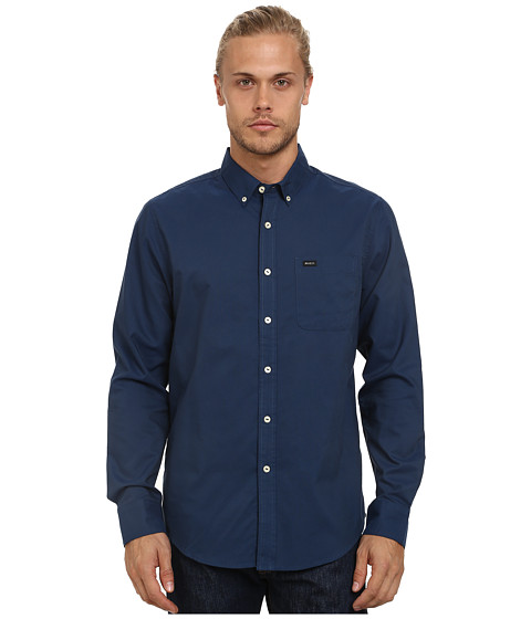 RVCA - That'll Do Oxford L/S (Midnight) Men's Long Sleeve Button Up
