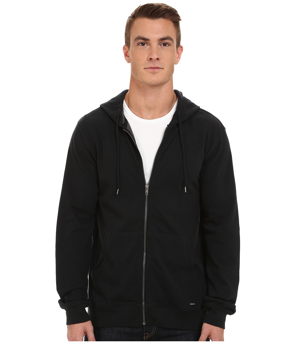 RVCA - Crucial II Zip Hoodie (Black) Men's Sweatshirt