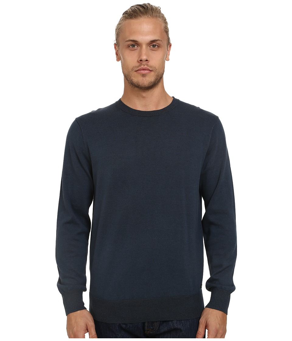 RVCA - Plate Crew (Midnight) Men's Long Sleeve Pullover