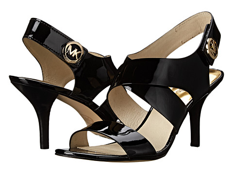 MICHAEL Michael Kors - Joselle Open Toe (Black Patent) High Heels