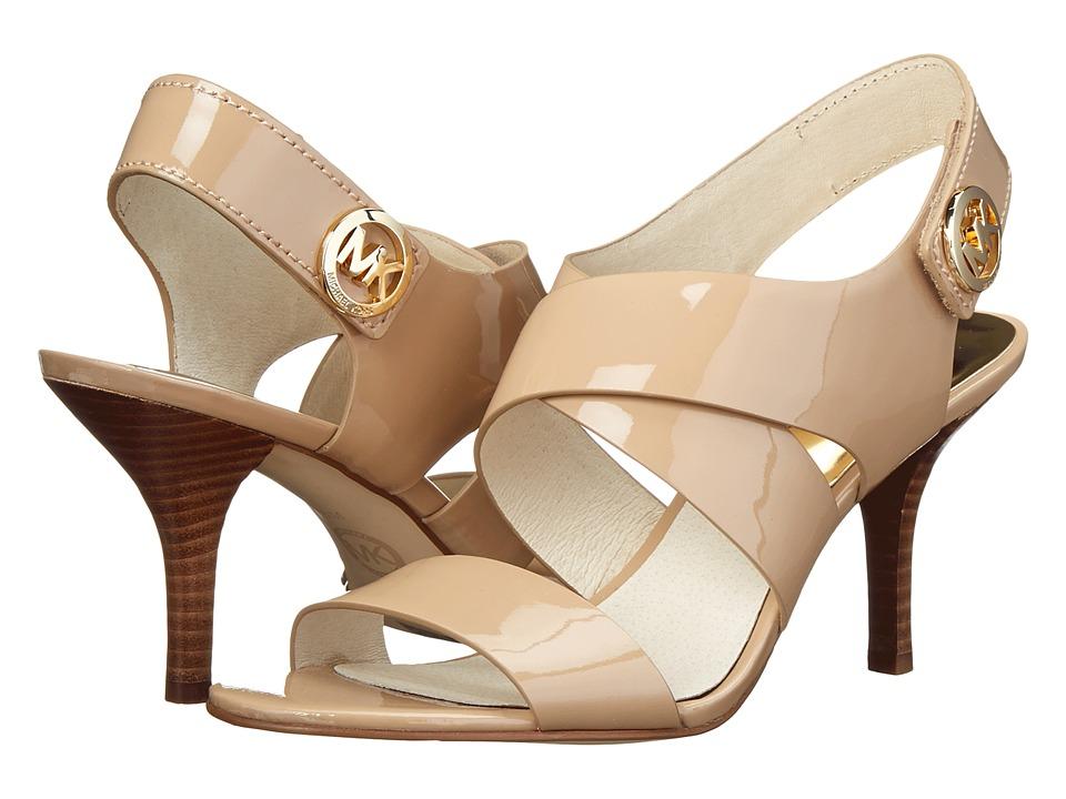 MICHAEL Michael Kors - Joselle Open Toe (Nude Patent) High Heels