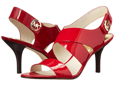 MICHAEL Michael Kors - Joselle Open Toe (Red Patent) High Heels