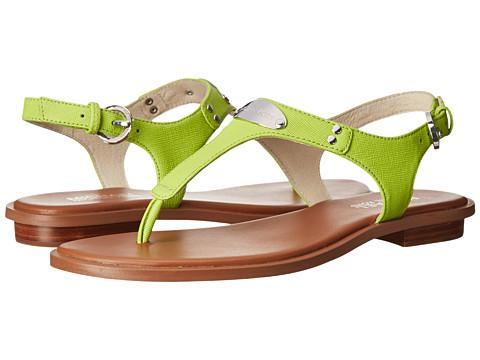MICHAEL Michael Kors - MK Plate Thong (Pear Saffiano) Women's Sandals