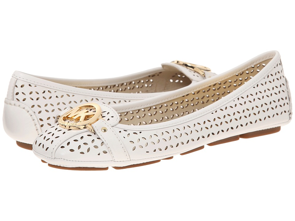 MICHAEL Michael Kors - Fulton Moc (Optic White Lasered Smooth Calf) Women's Flat Shoes