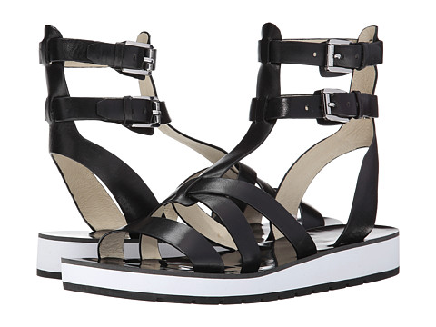 MICHAEL Michael Kors - Judie Gladiator (Black Vachetta) Women's Shoes