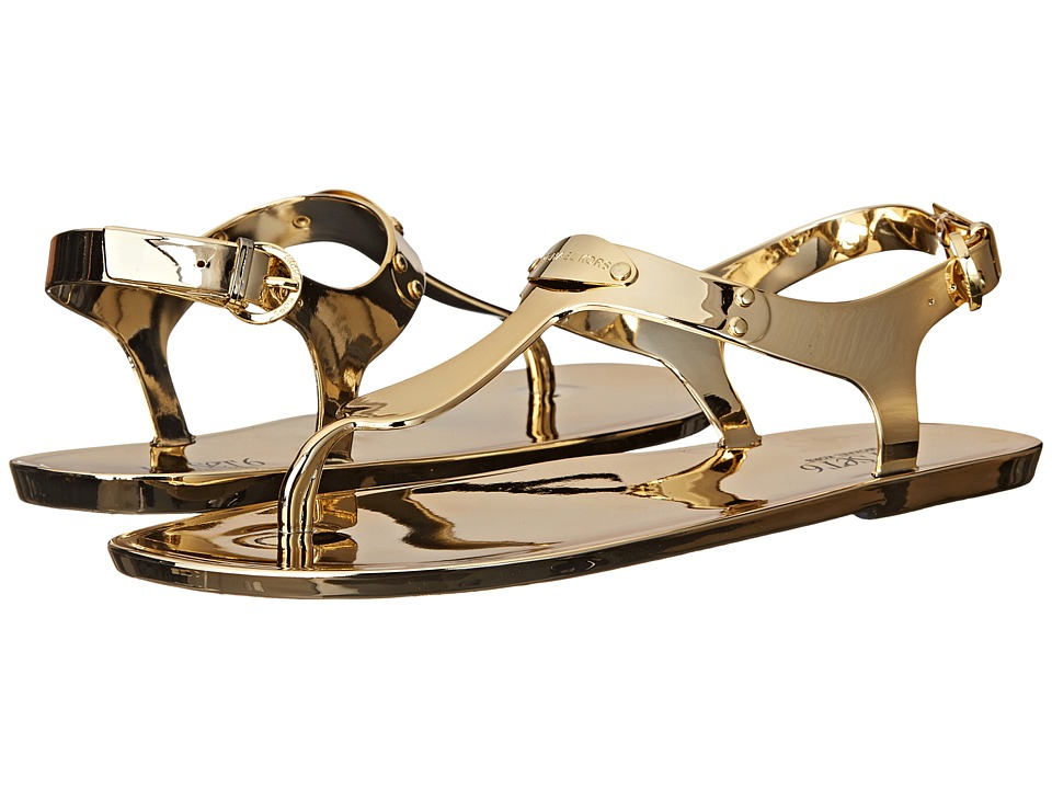 MICHAEL Michael Kors - MK Plate Jelly (Gold Metallic PVC) Women's Sandals