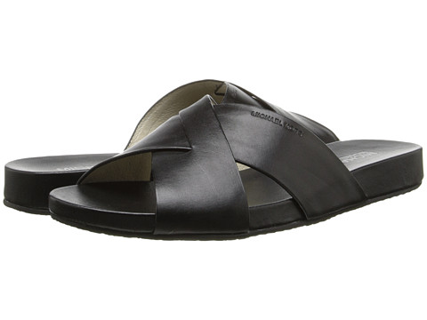 MICHAEL Michael Kors - Somerly Slide (Black Vachetta) Women's Slide Shoes