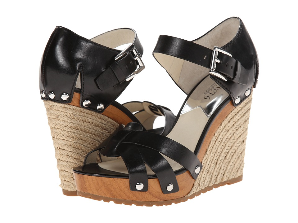 MICHAEL Michael Kors - Somerly Wedge (Black Vachetta) Women's Wedge Shoes