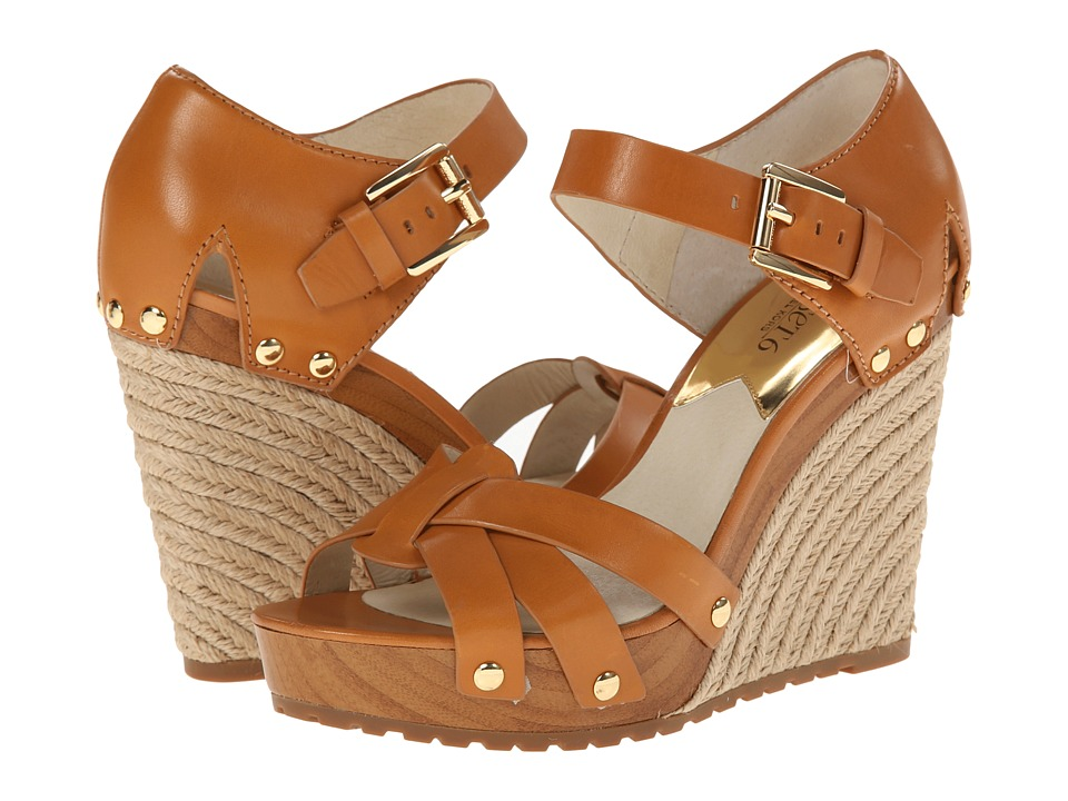 MICHAEL Michael Kors - Somerly Wedge (Peanut Vachetta) Women's Wedge Shoes