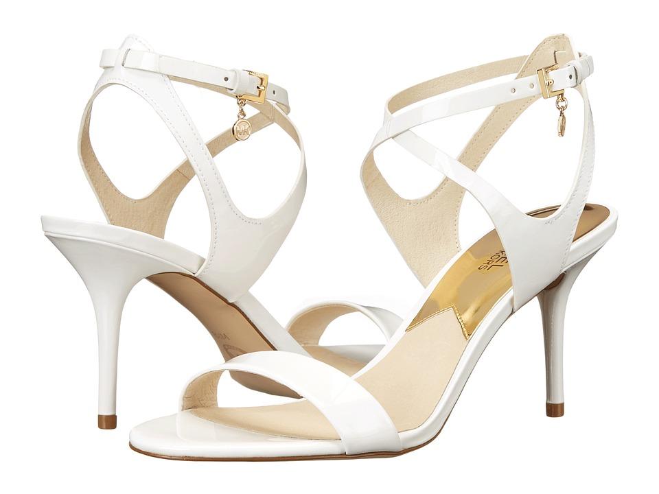 MICHAEL Michael Kors - Kaylee Mid (Optic White Patent) High Heels