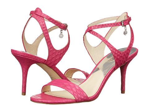 MICHAEL Michael Kors - Kaylee Mid (Fuchsia Embossed Snake) High Heels