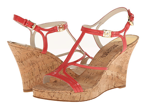 MICHAEL Michael Kors - Cicely Wedge (Watermelon Patent/Cork) Women's Wedge Shoes