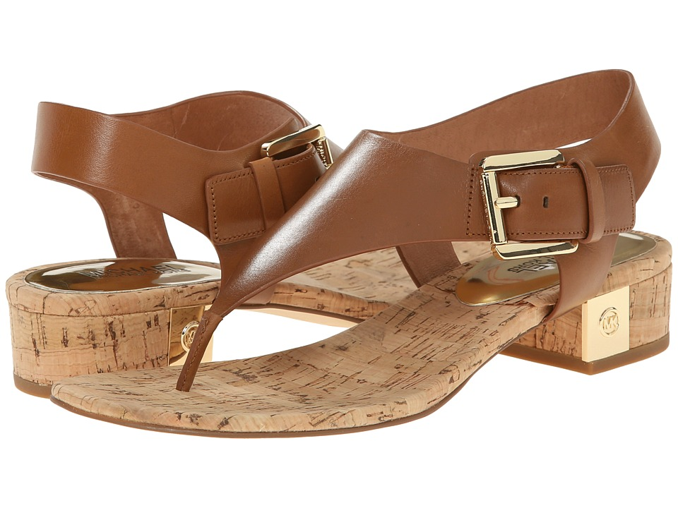 MICHAEL Michael Kors - London Thong (Luggage Vachetta/Cork) Women's Sandals