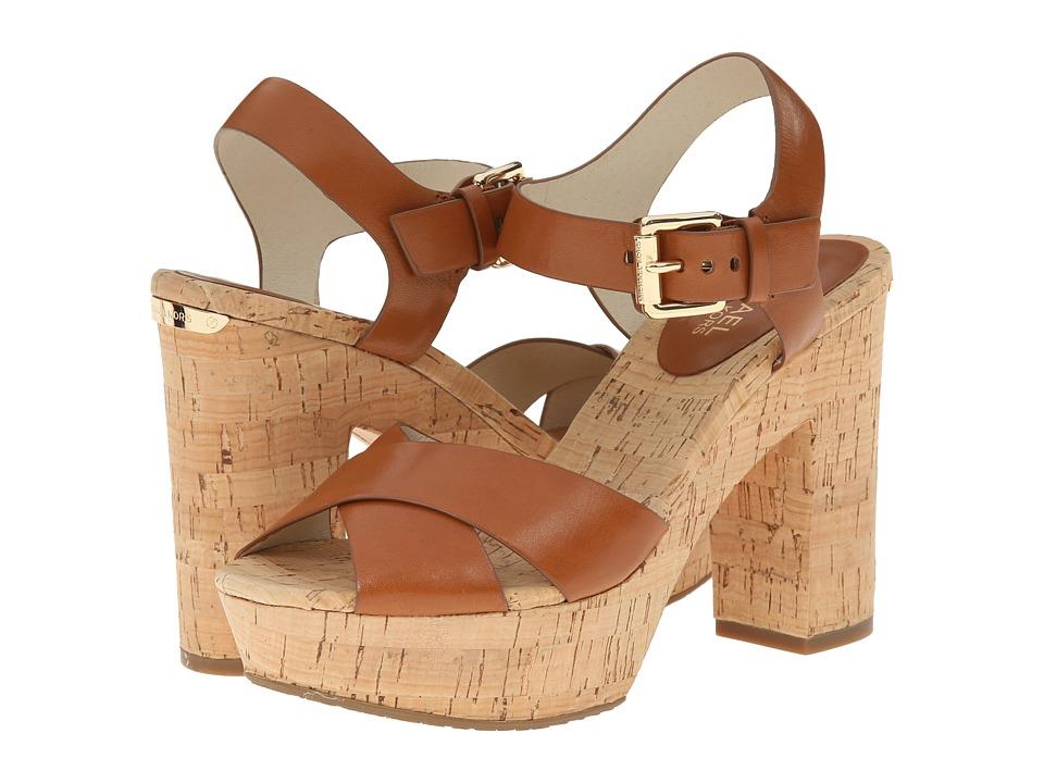 MICHAEL Michael Kors - Natalia Platform (Luggage Vachetta) High Heels