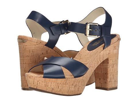 MICHAEL Michael Kors - Natalia Platform (Navy Vachetta) High Heels