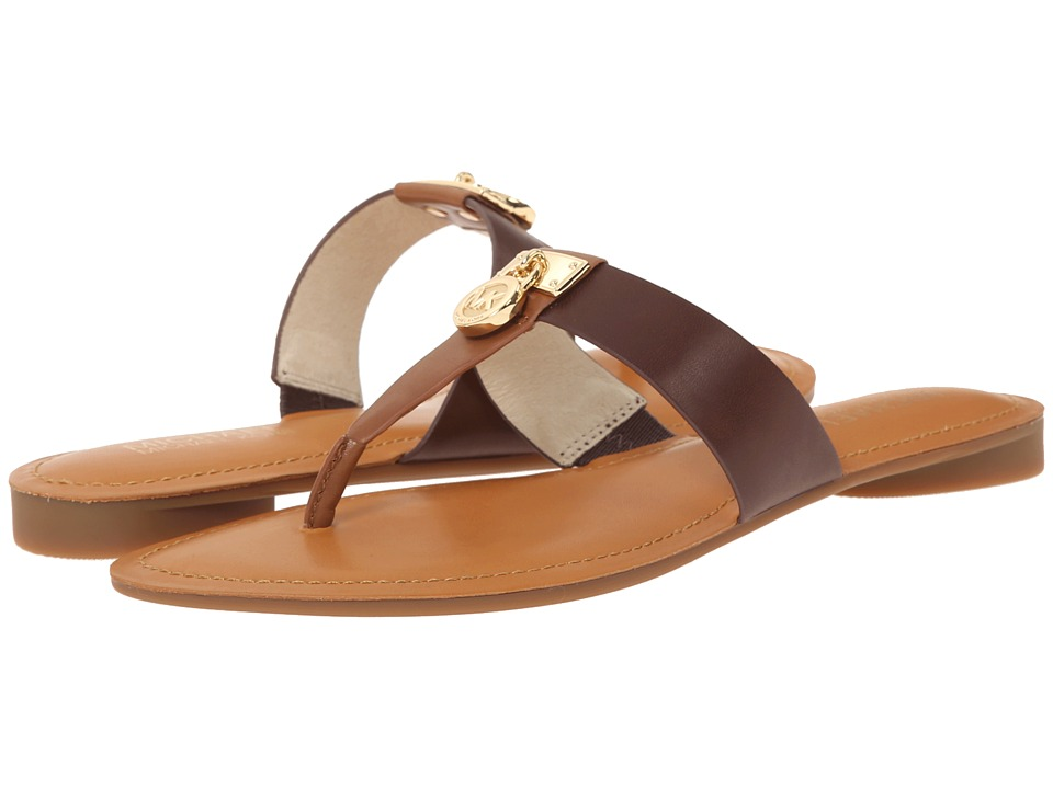 MICHAEL Michael Kors - Hamilton Flat (Walnut/Java Vachetta) Women's Sandals