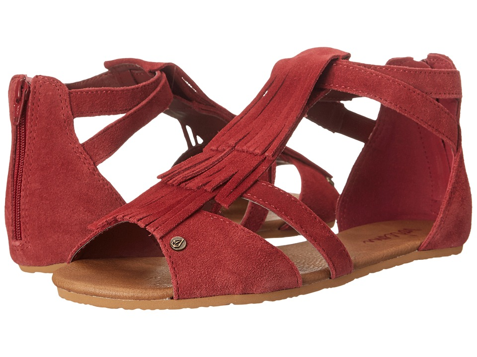 Volcom - Backstage (Burgundy) Women's Sandals