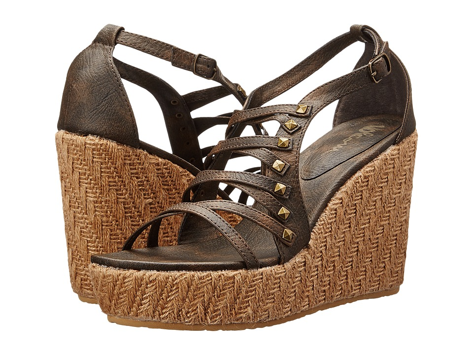 Volcom - Luck (Brown) Women's Wedge Shoes