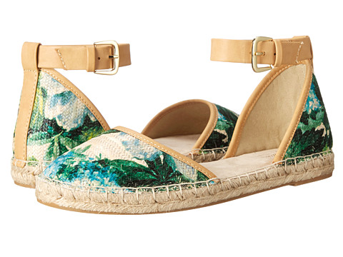 Seychelles - Circle (Green Floral Raffia) Women's Flat Shoes