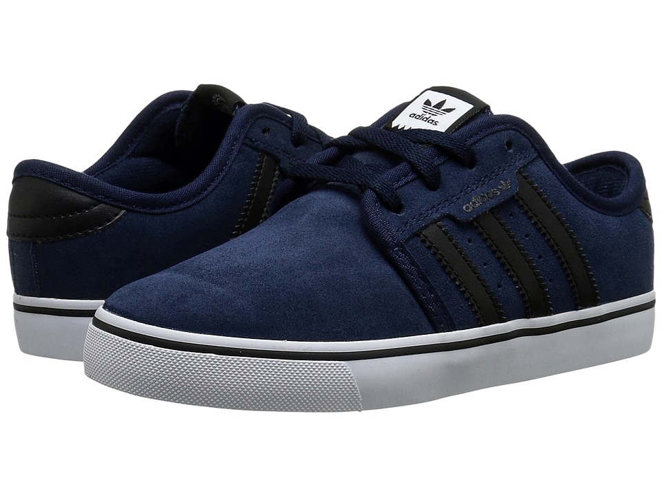 adidas Skateboarding - Seeley J (Little Kid/Big Kid) (Navy/Black/White) Skate Shoes