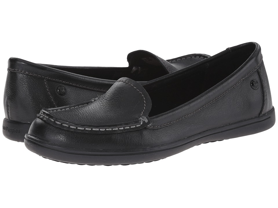 Hush Puppies - Ryann Claudine (Black Leather) Women