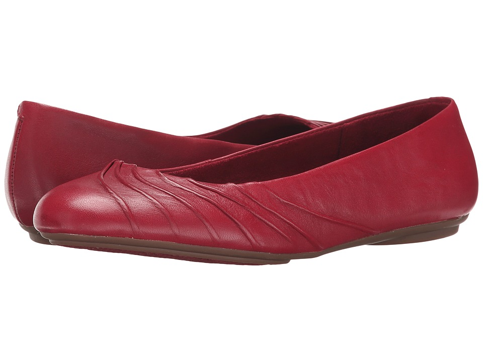 Hush Puppies - Zella Chaste (Dark Red Leather) Women