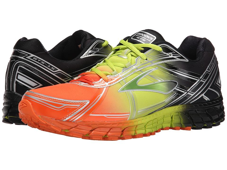 Brooks - Adrenaline GTS 15 (Red Orange/Lime Punch/Black) Men's Running Shoes