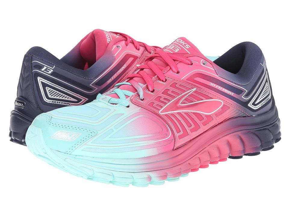 Brooks - Glycerin 13 (Aruba Blue/Fandango Pink/Peacoat) Women's Running Shoes