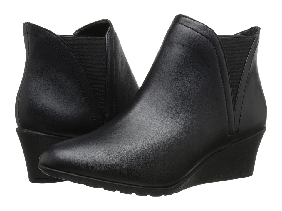 Hush Puppies - Electra Rowley (Black Leather) Women