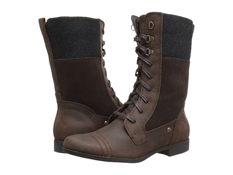 Hush Puppies - Fidda Maisie (Dark Brown WP Leather) Women's Lace-up Boots