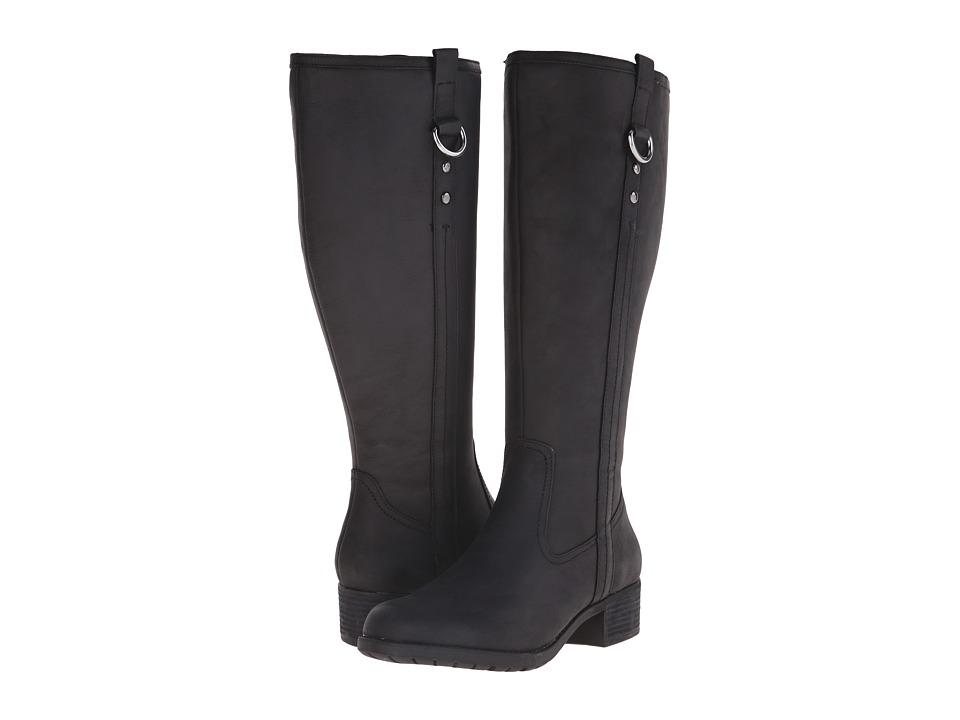 Hush Puppies - Emel Overton (Black WP Leather) Women's Boots