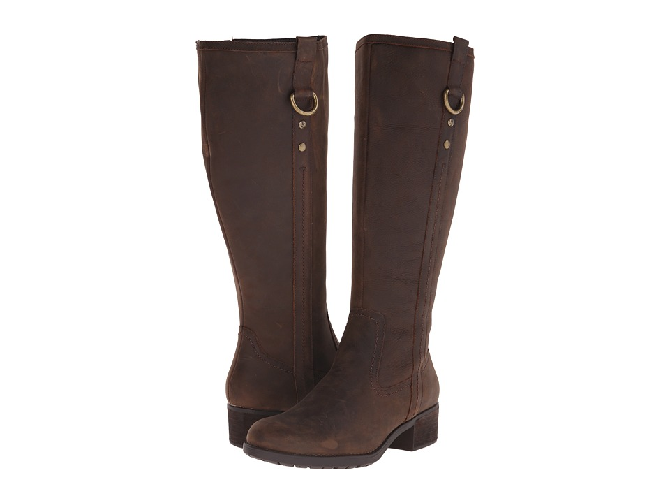 Hush Puppies - Emel Overton (Dark Brown WP Leather) Women's Boots