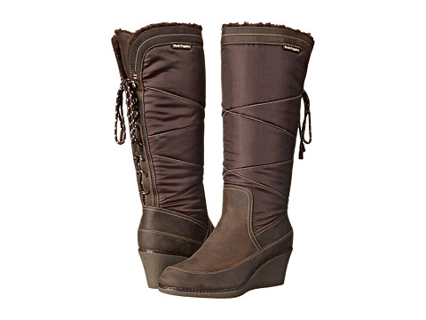 Hush Puppies - Hilde Hyde (Dark Brown Leather/Textile) Women's Zip Boots