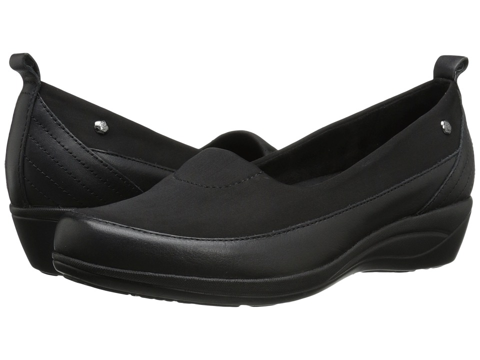 Hush Puppies - Valoia Oleena (Black Leather) Women
