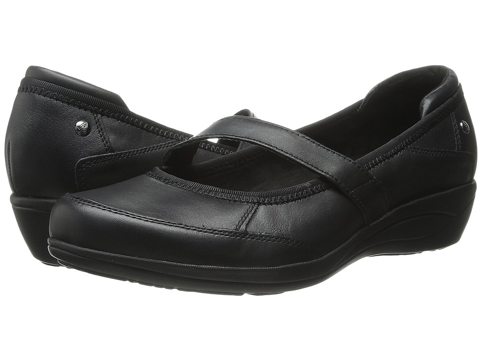 Hush Puppies - Velma Oleena (Black Leather) Women