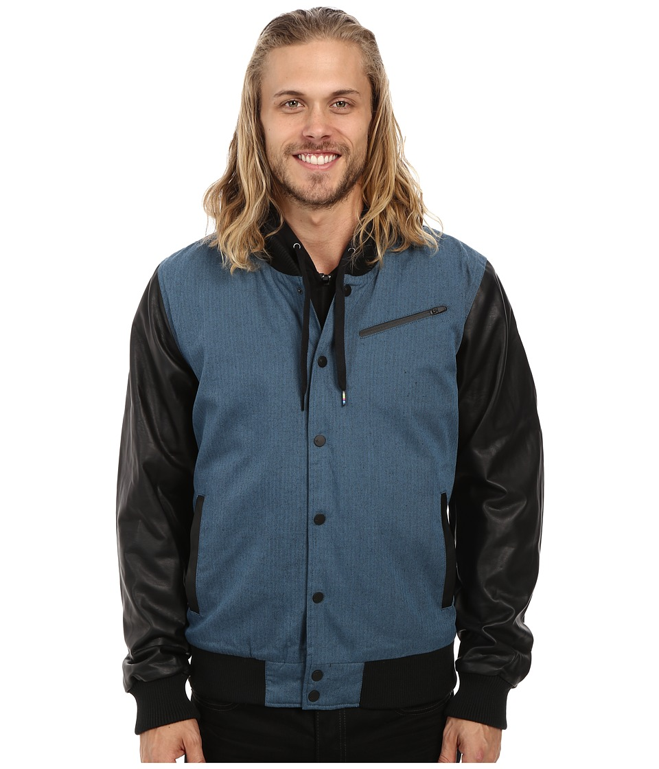 Hurley - All City Biker Jacket (Rift Blue) Men's Coat