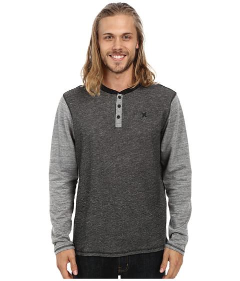 Hurley - Craft Long Sleeve Knit Henley (Black) Men's Long Sleeve Pullover