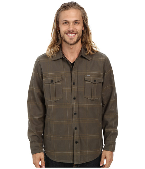 Hurley - Pivot Long Sleeve Woven (Cargo Khaki) Men's Fleece