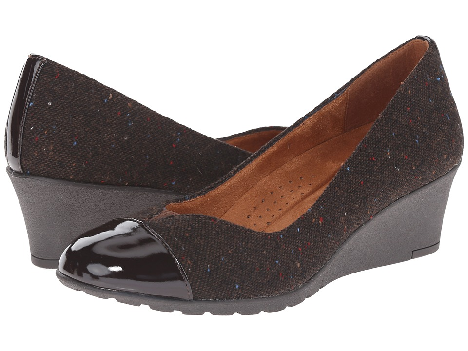 Hush Puppies - Fleur Rowley (Dark Brown Tweed Fabric) Women