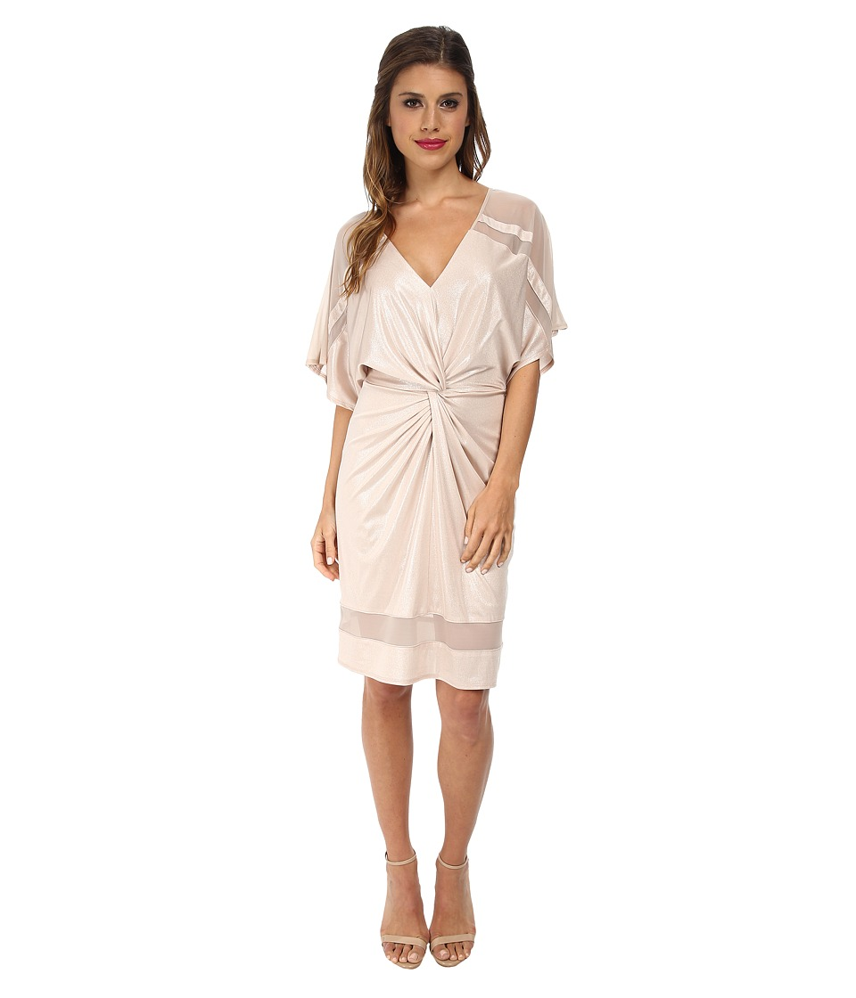 ABS Allen Schwartz - Twist Front Kimono Dress (Champagne) Women's Dress