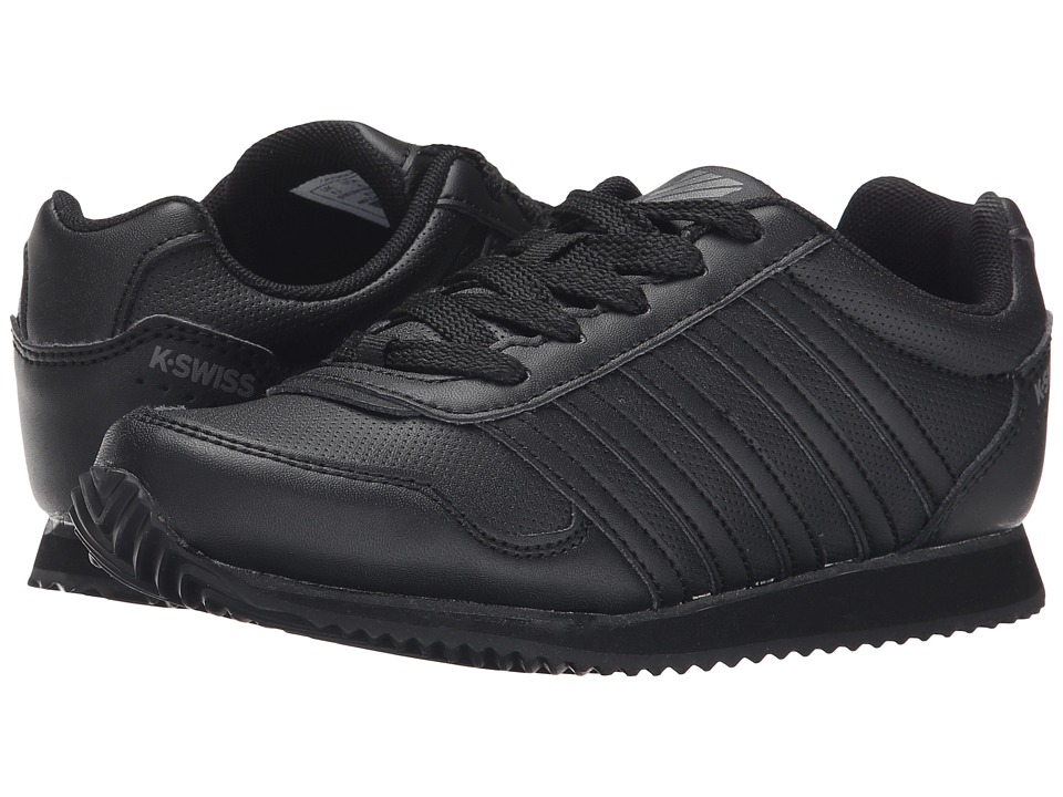 K-Swiss Kids - New Haven S (Little Kid) (Black/Smoked Pearl) Kids Shoes