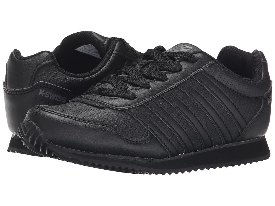 K-Swiss Kids - New Haven S (Little Kid) (Black/Smoked Pearl) Kids Shoes