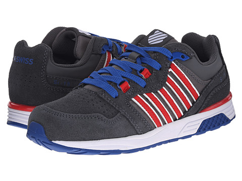 K-Swiss Kids - SI-18 Trainer 2 SDE (Little Kid) (Charcoal/Red/Classic Blue) Boys Shoes