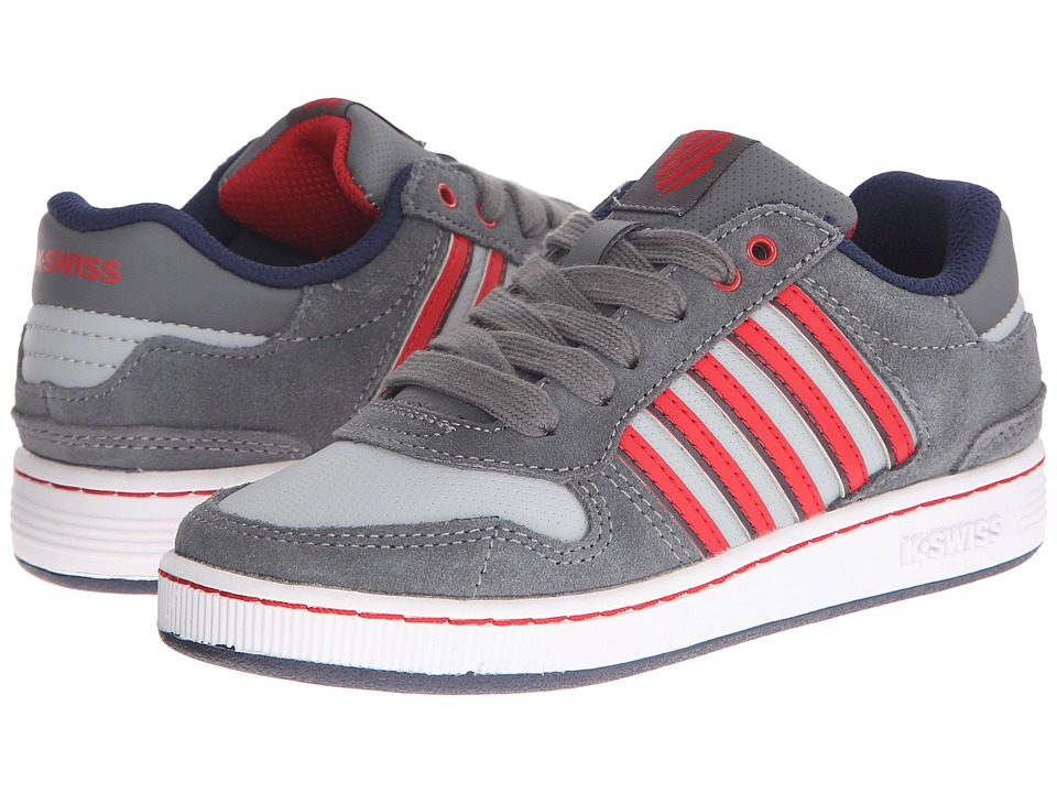K-Swiss Kids - Jackson SDE (Little Kid) (Smoked Pearl/Storm/Mars Red) Boys Shoes