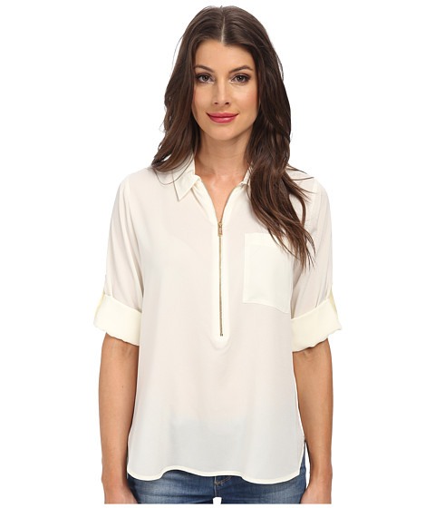Calvin Klein - Solid Promo Blouse (Birch) Women's Blouse
