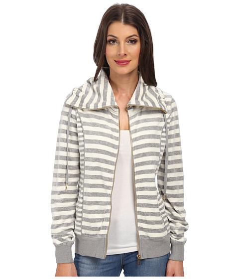 Calvin Klein - Mixed Striped Funnel Neck Jacket (Milk Combo) Women