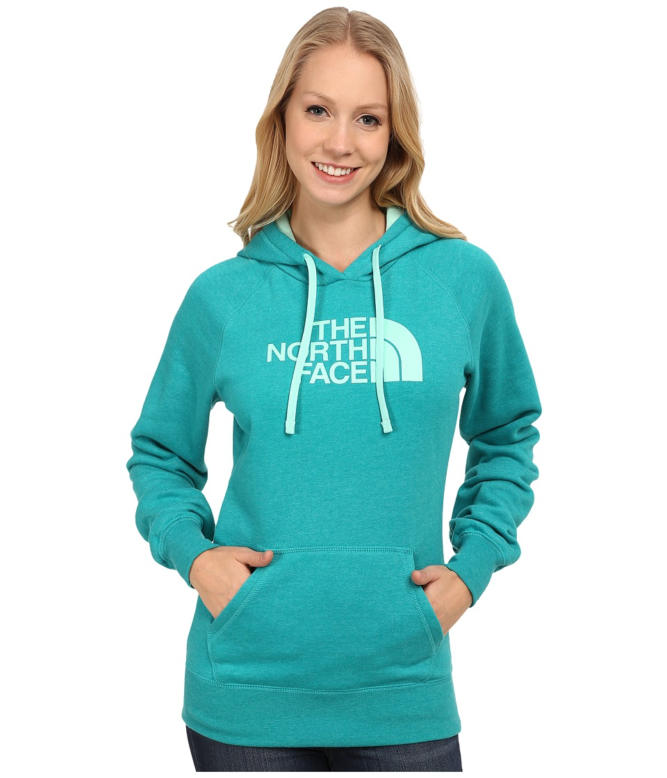 The North Face - Half Dome Hoodie (Kokomo Green Heather/Surf Green) Women's Sweatshirt