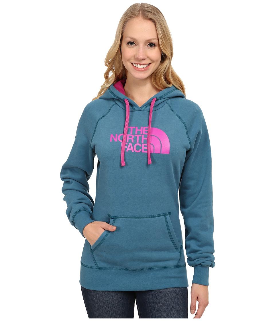 The North Face - Half Dome Hoodie (Juniper Teal/Luminous Pink) Women